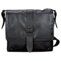 Pride and Soul Neo Shoulder Strap Black Leather Laptop Bag