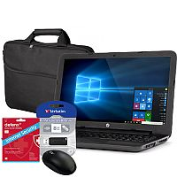 HP 255 G5 Laptop Bundle RAM 4GB ; 1TB HDD ; DVD-RW  15.6 Inch Windows 10 + Bag, Mouse, Internet Security, 8GB Pendrive