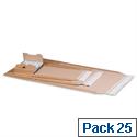 Postal Envelopes W335 x D275 x H80mm Crinkle Edges Self Seal Pack 25
