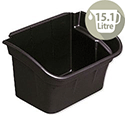 Rubbermaid Silverware Utility Bin for Utility Cart W432xD308xH267mm 15.1L Black Ref 3354-88-BLA 202856