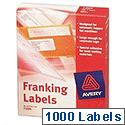 Avery Franking Labels 1 per Sheet FL04 140x38mm White 1000 Labels