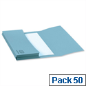 A4 Document Wallet Half Flap Blue Pack 50 Elba