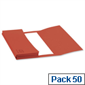 A4 Document Wallet Half Flap Red Pack 50 Elba
