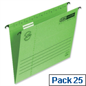 Elba Vertic flex Suspension File Green Foolscap 240gsm L901210 Pack 25