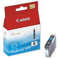 Canon CLI-8 C ( 0621B001 ) Cyan Ink Cartridge Original - for PIXMA iP3500, iP4500, iP5300, MP510, MP520, MP610, MP960, MP970, MX700, MX850, Pro9000
