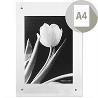 Wall Picture Frame Magnet Closure with Fixings A4 Clear Photo Album Company