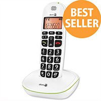 Doro PhoneEasy 100w Telephone Single Cordless Big Buttons Suitable For Use With Hearing Aids. Call Range Of 300m Outdoors. Ideal For Homes, Offices & More.