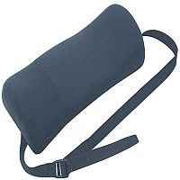Fellowes Portable Chair Lumbar Support Soft-brushed Cover Adjustable-straps Ref 9190701