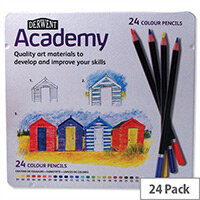 Derwent Academy Colour Pencils Assorted Tin Pack 24