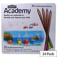 Derwent Academy Watercolour Pencils Assorted Pack 24