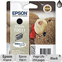 Epson T0611 Black Ink Cartridge Teddybear Series C13T06114010