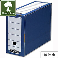 Fellowes Bankers Box Premium Transfer File Blue and White Pack 10