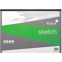 Silvine  A3  Popular Drawing Pad Acid Free Cartridge Paper 100g/m2  50 Sheets