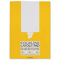 Goldline A3 Layout Pad Bank Paper 50gsm 80 Pages GPL1A3Z