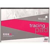 Silvine  A3  Popular Tracing Pad Acid Free Paper 63gsm  50 Sheets