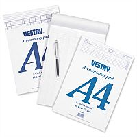 Vestry Accountants Pad 8 Cash Column 80 Leaf A4 Ref CV2064 224756