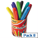 BIC Permanent Markers Colour Collection Assorted Pot of 8