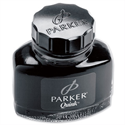 Parker Quink Ink Bottle Black Permanent 57ml S0037460