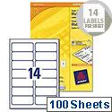 Avery 3653 Multifunction Copier Labels 14 per Sheet 105x42.3mm White (1400 Labels)
