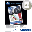 HP Hewlett Packard A3 Professional 120gsm Glossy Laser Printer Paper 250 Sheets CG969A