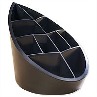 Recycled Pen Pot Black 10 Compartments Leaf Design Avery DTR