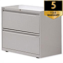 Bisley 2-Drawer Side Filing Cabinet Goose Grey SF2N