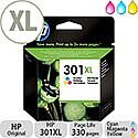 HP 301XL Tri Colour Ink Cartridge CH564EE