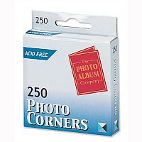 Photo Corners Clear Self Adhesive Pack 250