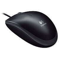 Logitech B100 Corded Optical Mouse USB Black 910-003357