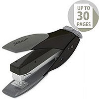 Rexel Easy Touch Stapler Flat Clinch Half Strip Capacity 30 Sheets Black and Grey