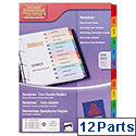 Avery Jan-Dec Index Dividers Card Mylar Tabs