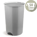 Addis Open Top Bin Base 50 Litre Metallic Ref 503579