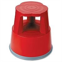 5 Star Step Stool Mobile Plastic Lightweight Strong Red