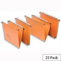 Elba Ultimate AZ0 Orange Vertical A4 Suspension File 15mm V-Base Sheets L200000 Pack 25