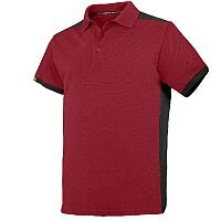 Snickers 2715 AllroundWork Polo Shirt Size XS Red/Black