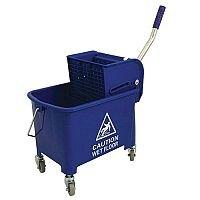Mop Bucket Mobile Colour-coded with Handle 4 Castors 20 Litre Blue SPC/MB20B