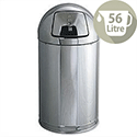 Waste Bin Stainless Steel Fire Safe 56 Litres Rubbermaid R1536SSSGL