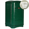 Rubbermaid Landmark II Plastic Bin 189 Litres Doors Green Slide Out Bag Holder 3964-58