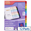 Avery Mar-Apr Dividers Card Coloured Contents Sheet Matching Mylar Tabs