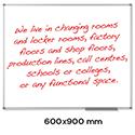 Nobo Classic Whiteboard 600 x 900mm Aluminium