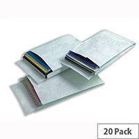 Tyvek 381x254x51mm Peel and Seal White Gusset Envelopes Pack of 20
