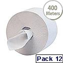 Scott 400 Dispenser Toilet Tissue Maxi Jumbo 400m per Roll 1 Ply White Ref 8613 Pack 12