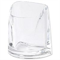 Pencil Holder Acrylic Large Clear Rexel Nimbus