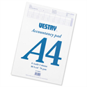 A4 Accountants Pad 8 Audit Column 80 Leaf CV2092 Vestry