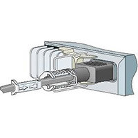 Cisco Power Clip for the 3560-C and 2960-C - Cable clips - for Catalyst Compact 2960, 2960C-12, 3560, 3560C-12