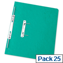 Foolscap Spiral Transfer Spring File Green 32mm Pack 25 Elba Boston