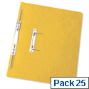 Foolscap Spiral Transfer Spring File Yellow 32mm Pack 25 Elba Boston