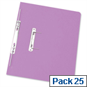 Foolscap Spiral Transfer Spring File Lilac 32mm Pack 25 Elba Boston