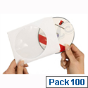 Avery CD DVD Paper Sleeves White SL1760-100 Pack 100