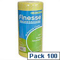 Finesse Professional All-purpose Cloths Roll 100 Yellow W230xL500 7078